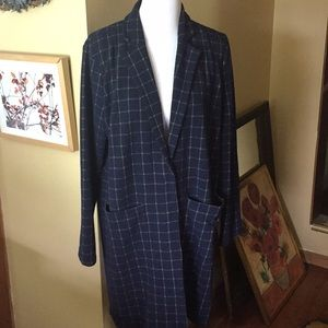 Anthropologie HARLYN XL Plaid SweaterBlazr $128new